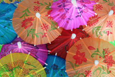 Asian cocktail umbrellas Royalty Free Stock Photos