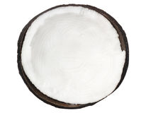 Asian coconut isolated on white. Asian coconut with shell tropical fruit  isolated on white Stock Photo