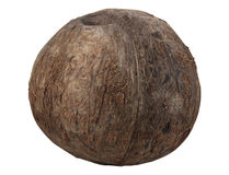 Asian coconut isolated on white. Asian coconut with shell tropical fruit  isolated on white Royalty Free Stock Photo