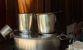 Asian coffee boiler and tea pot Stock Images