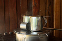 Asian coffee boiler and tea pot Royalty Free Stock Photos