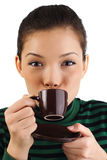 Asian Coffee woman stock image