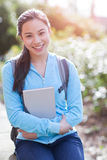 Asian college student. A shot of an Asian college student on campus stock image