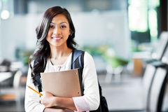 Asian college student. A portrait of an Asian college student on campus Royalty Free Stock Image