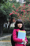 Asian college student. Portrait of an asian college student royalty free stock photos