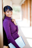 Asian college student. Attractive female asian college student on campus royalty free stock images