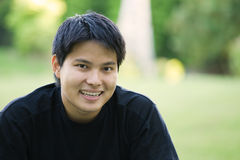 Asian college student. A headshot of an asian college student royalty free stock photo