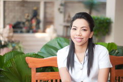 Asian college student woman Royalty Free Stock Photography