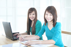Asian college students Royalty Free Stock Photo