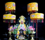 Asian colorful mythological statue Stock Photos