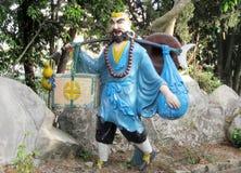 Asian colorful mythological statues Stock Photography