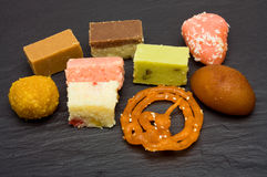 Asian Confectionery. Abstract vibrant selection of Asian Confectionery from low perspective Royalty Free Stock Photos