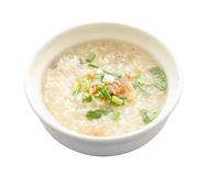 Asian congee round bowl Stock Image