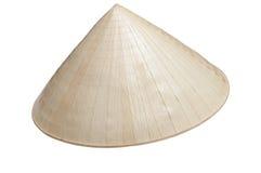 Asian wood hat isolated on white background Stock Photo