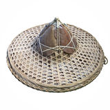 Asian conical hat with leaves dry Royalty Free Stock Photography