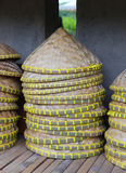 Asian conical hat. retail market Royalty Free Stock Photos