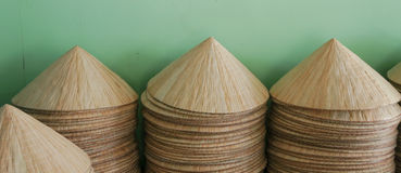 Asian conical hats Stock Photo