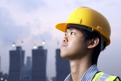Asian construction engineer Stock Photography