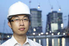 Asian construction engineer Royalty Free Stock Photography