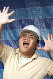 Asian construction engineer terrified Stock Image
