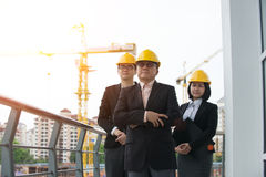 Asian Construction personnel Stock Photo