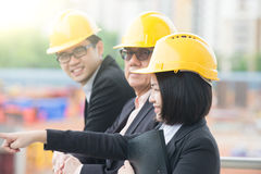 Asian Construction personnel Stock Image