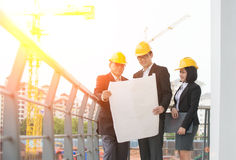 Asian Construction personnel Royalty Free Stock Images