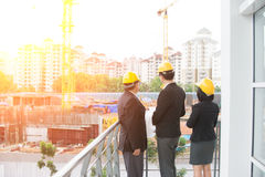 Asian Construction personnel Stock Images