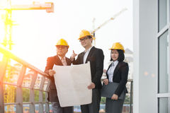 Asian Construction personnel Royalty Free Stock Image