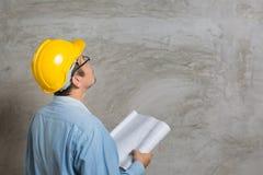 Asian construction technician Royalty Free Stock Photo