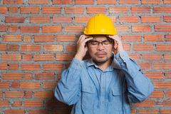 Asian construction technician Royalty Free Stock Image