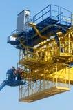 Asian construction worker, overhead railway, metro Royalty Free Stock Photo