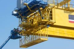 Asian construction worker, overhead railway, metro Stock Photos