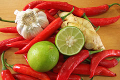 Asian cooking ingredients Stock Images