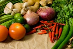 Asian cooking ingredients Stock Image