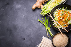 Asian cooking ingredients Royalty Free Stock Photo