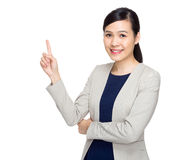 Asian corporate officer with finger point out Stock Photos