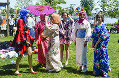 Asian Cosplay Day Activity in Istanbul Stock Photos