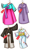 Asian costumes Stock Photography