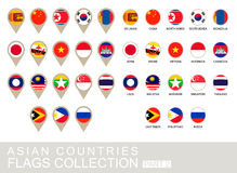 Asian Countries Flags Collection, Part 2 Royalty Free Stock Photo