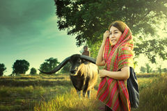 Asian Country Girl Stock Images