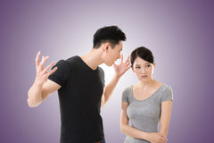 Asian couple argue Stock Image