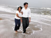 Asian Couple At The Beach Stock Photos