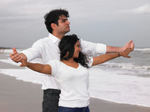 Asian couple in the beach Stock Photo