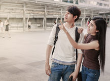 Asian Couple On City Trip Stock Photo