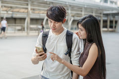 Asian Couple On City Trip Royalty Free Stock Image