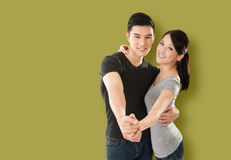 Asian couple dancing Stock Image