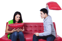 Asian couple fighting Stock Images
