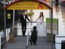 Asian couple getting married in Copenhagen Stock Photo