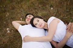 asian couple happy Στοκ φωτογραφίες με δικαίωμα ελεύθερης χρήσης